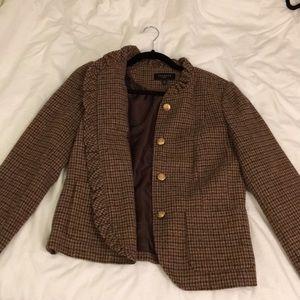 Tweed Ruffled Houndstooth Jacket *Never worn*